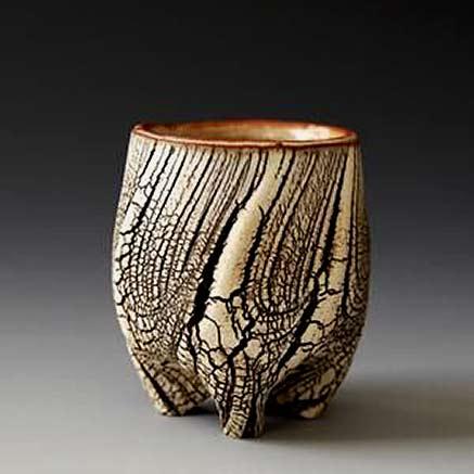 Akira-Satake footed sake cup
