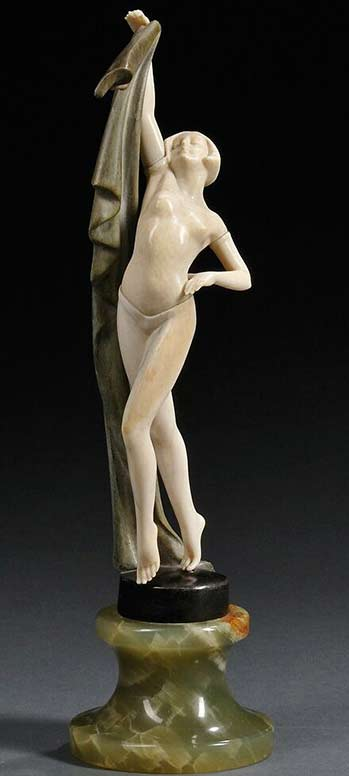 Art-Deco-bronze-and-ivory-figure-by-J-Ulrich