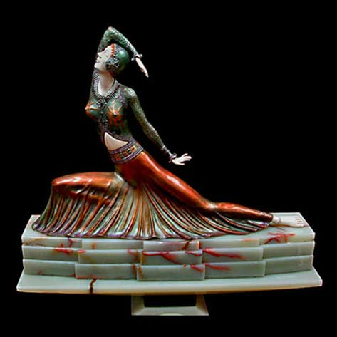 Demetre-Chiparus-art-deco-female figure sculpture