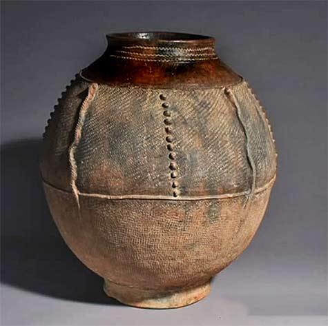 Bamana fabric textured pot - Mali