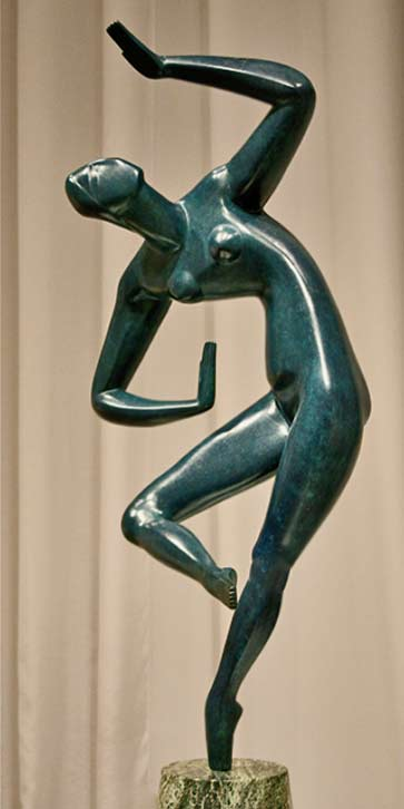 Blue_Dancer_2-Alexander-Archipenko - sculpture of a female dancer