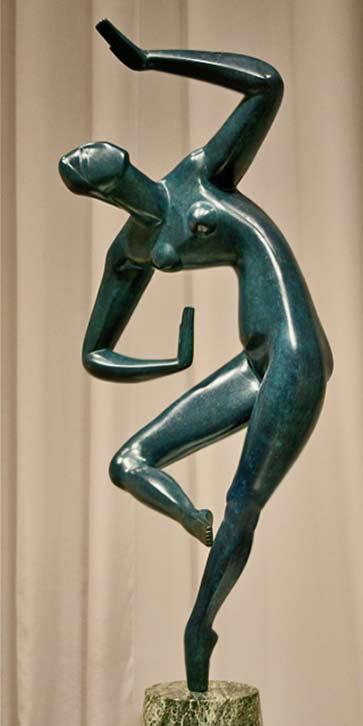 Blue_Dancer_2-Alexander-Archipenko - sculpture of a female dancer