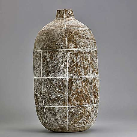 Claude Conover-Tall-ceramic-bottle vessel,