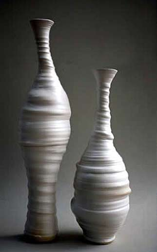Penelope-Withers ribbed asymmetrical bottles