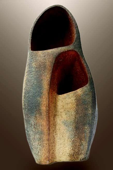 Diny Timmers ceramic sculptural portal vessel