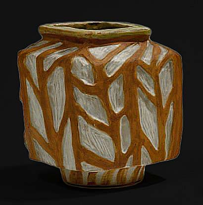 FISCHER-Michèle carved pottery vase