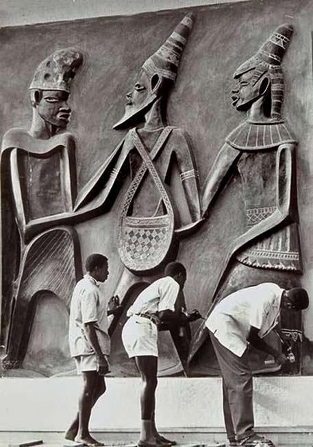 Felix-Idubor relief sculpture, Nigeria