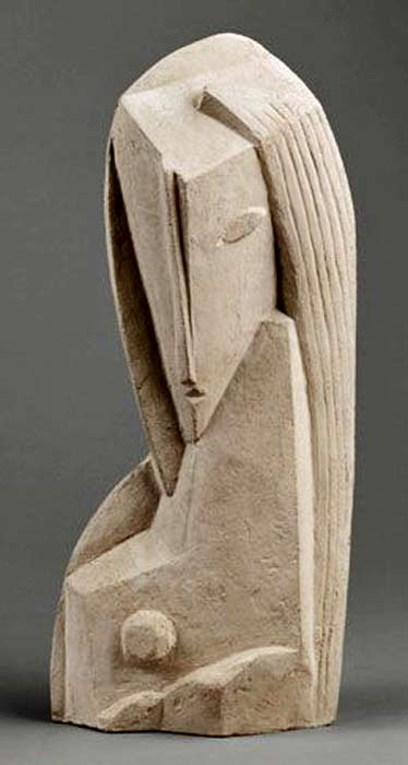 Henri-Laurens,-Tete-de-Femme sculpture female bust