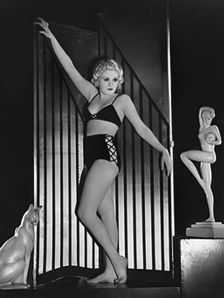 Joan Marsh posing in a bathing suit