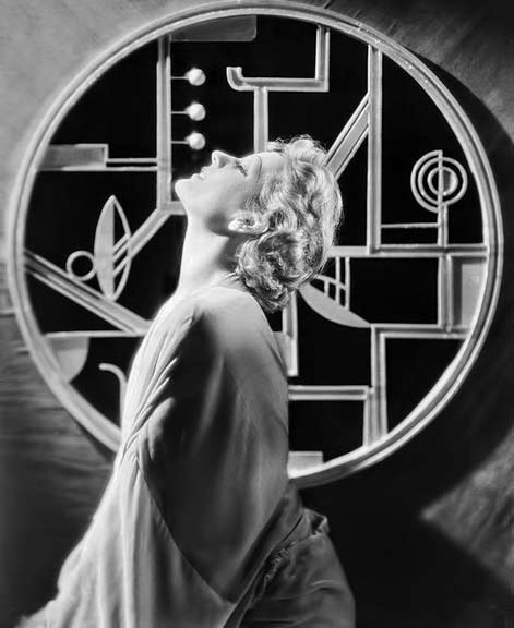 Juliette-Compton with art deco panel