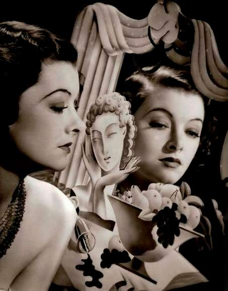 Myrna-Loy with mirror refkection