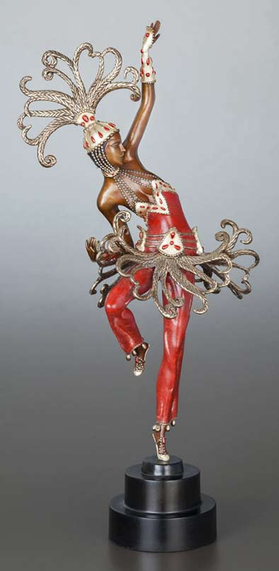 Erte Firedancer art deco figure sulpture