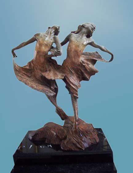 Richard-MacDonald-sculpture of two dancing sisters