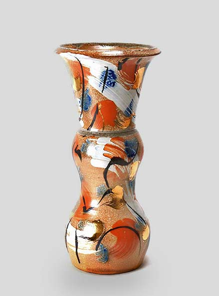 Double gourd vase with flared top - Suzy Atkins
