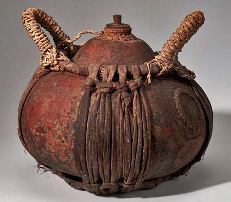 Vessel-with-stopper-from-the-Runtu-Camp,-Okavango-Delta