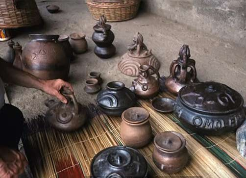 Selection of Yoruba pottery