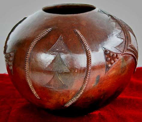 South African zulu clay pot