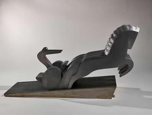 Ruggero Alfredo Michahelles: 'La Quadriga', 1929, Art Deco chariot
