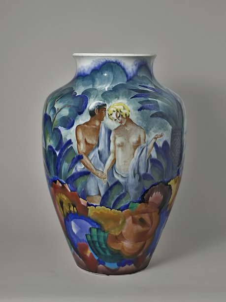 Louis-Jules-Trager-Adam and Eve vase