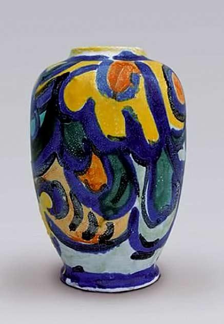 André-METTHEY-(1871-1921)-&Maurice-de-VLAMINCK Fauvist vase