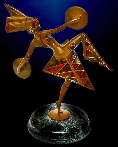'Dancer'-by-Gerda-Gerdago sculpture figurine bronze