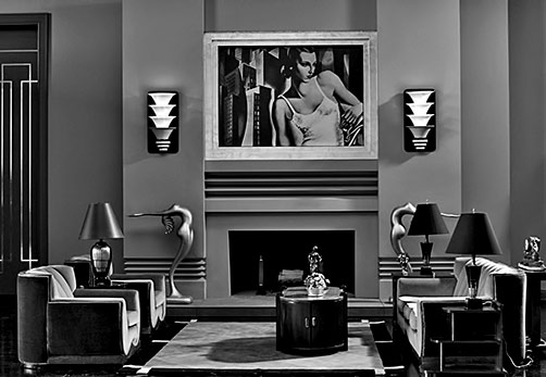 Art-Deco-set---The-Artist--2011 Art Deco recreation by set designer Robert Goulet