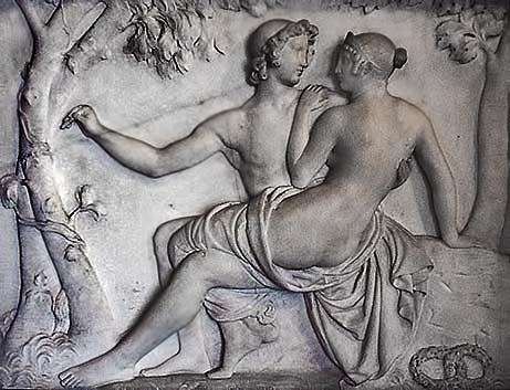 Bertel-Thorvaldsen----Amor-and-Psyche relief art