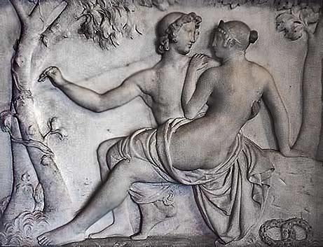 Bertel-Thorvaldsen----Amor-and-Psyche relief art