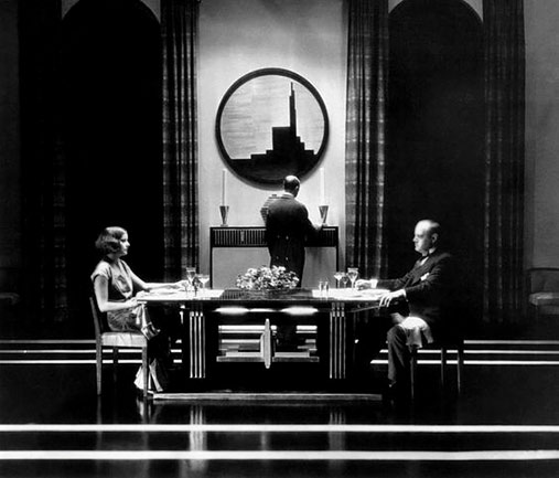 Cedric Gibbons art deco set design from The Kiss (1929)