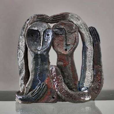 Eduard-Ghazaryan-Lovers ceramic sculpture
