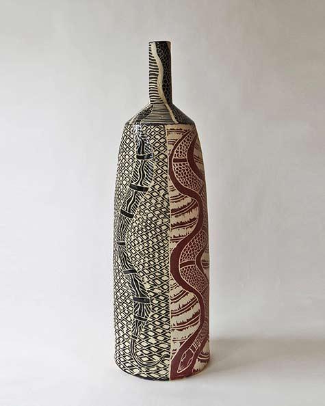 Ernabella-Ceramics,-Derek-Jungarrayi-Thompson---SOLD-Wanampi-I,-2014,