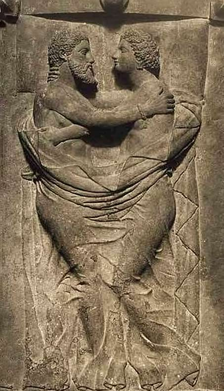 Etruscan-Vulci wall art relief