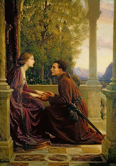 A pilgrim reunitses with his lover - Frank Bernard Dicksee - The End of the Quest