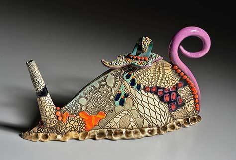 Gail-Mackiewic creative ceramic teapots