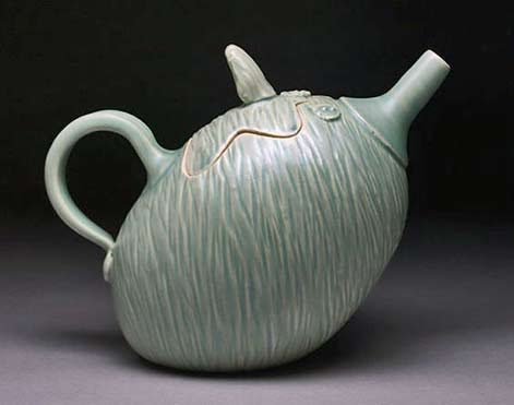 rebeccalowery-on-Etsy green teapot