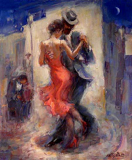 Gustavo Pujalte, Esquina Tango A couple dancing the tango on the street
