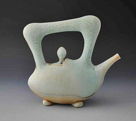 Jake-Johnson-Teapot - pastel turquoise matt green