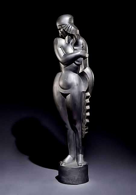 Jan-et-Joël-Martel-Art deco sculpture female figurine