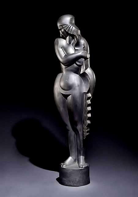 Jan-et-Joël-Martel-Art deco sculpture female figurine