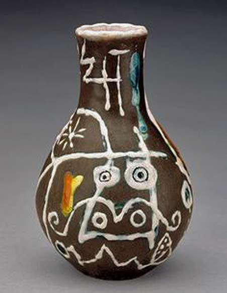 Joan Miro ceramic vase