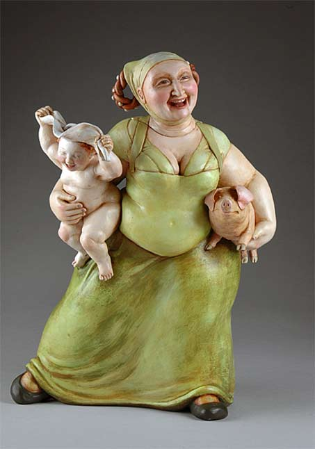 Karen-Portaleo-lady-with-child-and-pig-teapot