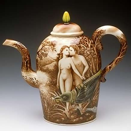 Kurt-Weiser-Adam-and-Eve and large bird teapot