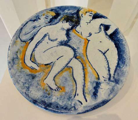 Maurice de Vlaminck fauves ceramic plate