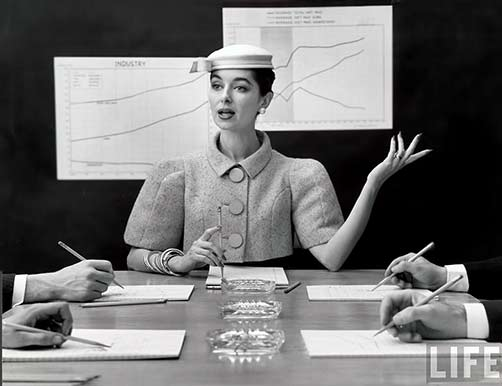 Boardroom Photo by Nina Leen for Life Magazine, 1956.
