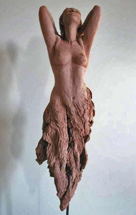 Pauline-Wateau enraptured female sculpture