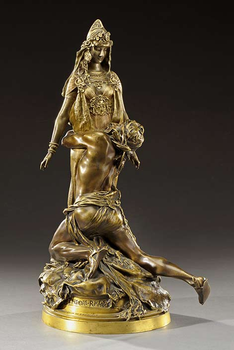 Theodore-Riviere-sculpture of Sarah-Bernhardt-à-Carthage