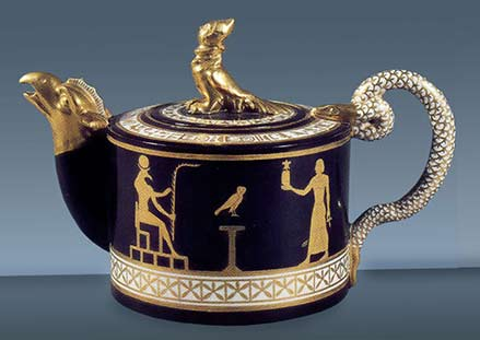 Egyptian revival teapot - Royal-Manufacture-of-Naples