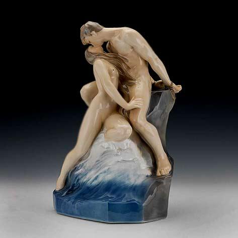 Theodor-Lundborg-for-Royal-Copenhagen-Kissing Couple sculpture