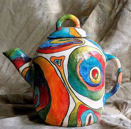 Xenia-Mitrokhin-teapot with psychedelic decoration