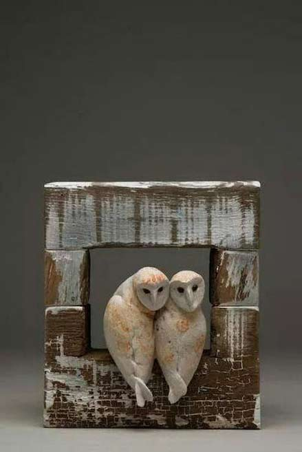 jeremy-james-ceramics two white owls